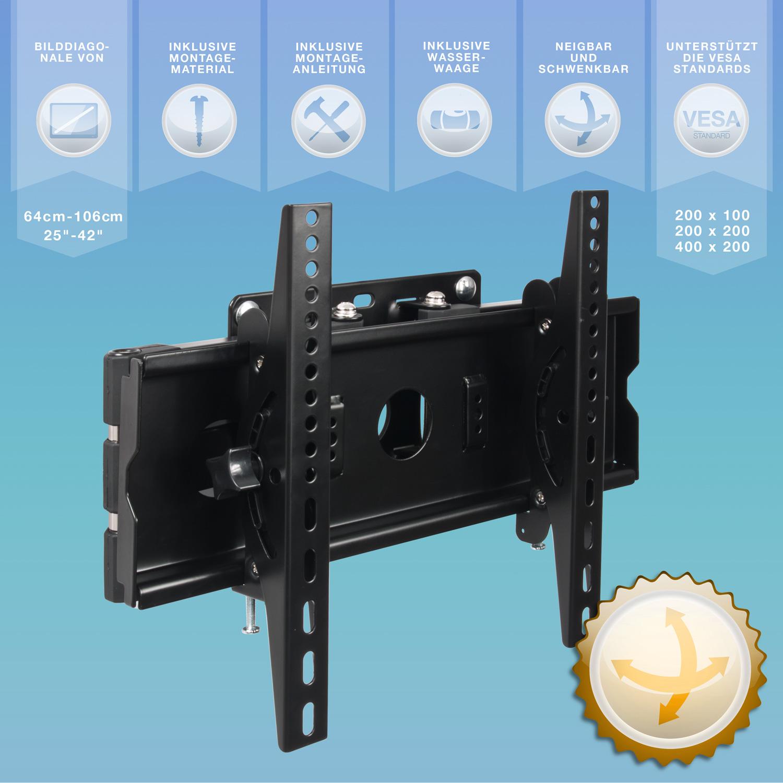 LCD LED Plasma TV WANDHALTER WANDHALTERUNG Dreh Neigbar NEUWARE Schwenk