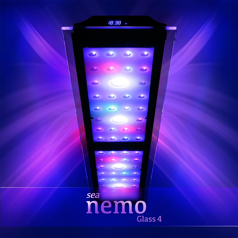 sea nemo glass 4 led korallen meerwasser aquarium beleuchtung lampe esmart ebay. Black Bedroom Furniture Sets. Home Design Ideas