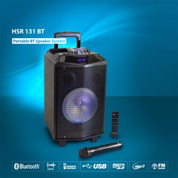 HAISER HSR 131 BT Party Lautsprecher Karaoke Anlage Funkmikro MP3 USB SD