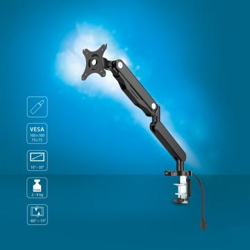 TV-/Monitor-Halter-Arm mit Gasdruckfeder 10 - 30 Zoll neigbar SCHWARZ