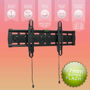 """eSmart TV Wandhalterung 65cm - 107cm 22"""" - 42"""" - Super flach!"""