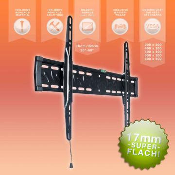"""eSmart TV Wandhalterung 76cm -152cm (30""""-60"""") - Super Flach! (B-Ware)"""